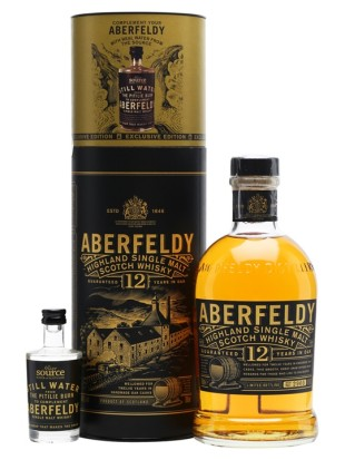 Whisky Aberfeldy 12 yo + still water 40% 0,7 l
