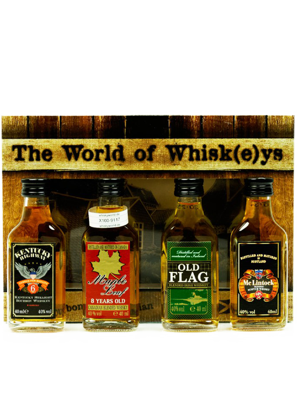 Miniset The World of Whisk(e)ys 40% 4x4 cl